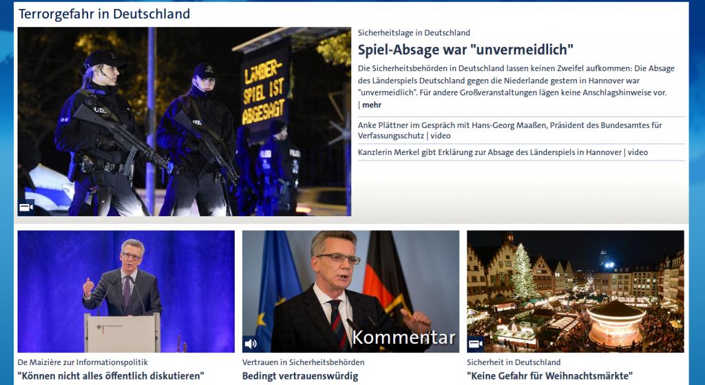 Screenshot tagesschau.de